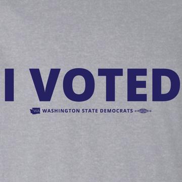 I Voted (Athletic Heather Tee)