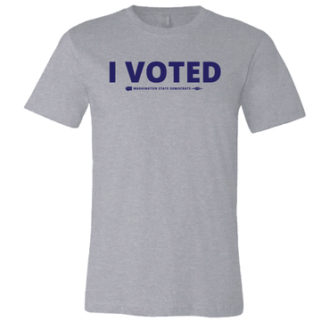 I Voted (Athletic Heather Tee)