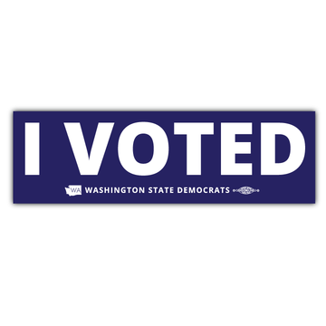 "I Voted (9"" x 3"" Vinyl Sticker -- Pack of Two!)"