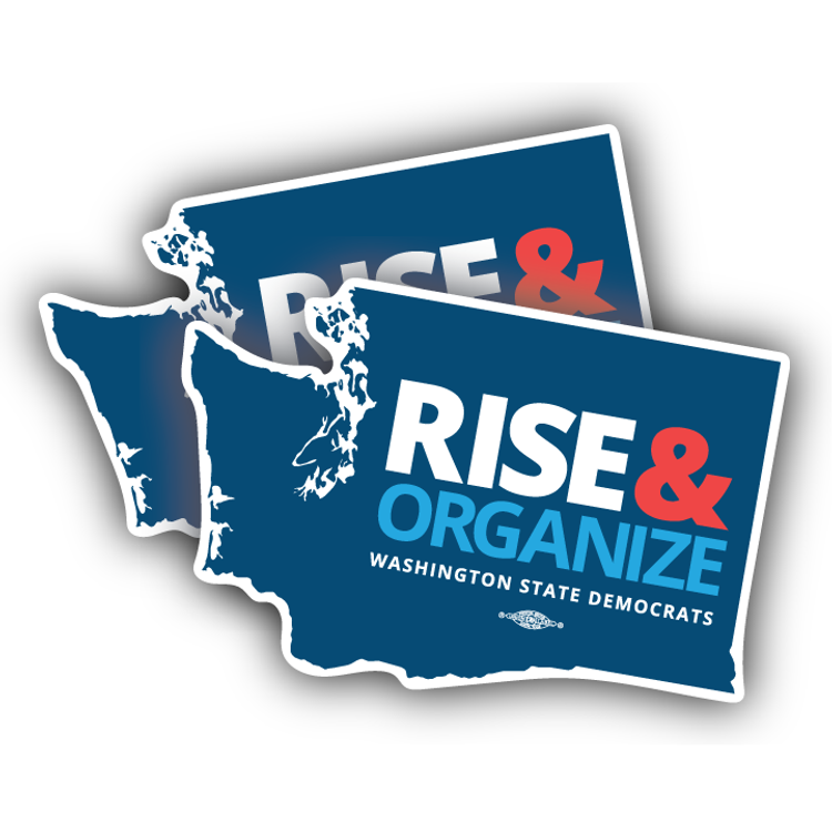 "Rise And Organize (6"" x 4"" Vinyl Sticker -- Pack of Two!)"