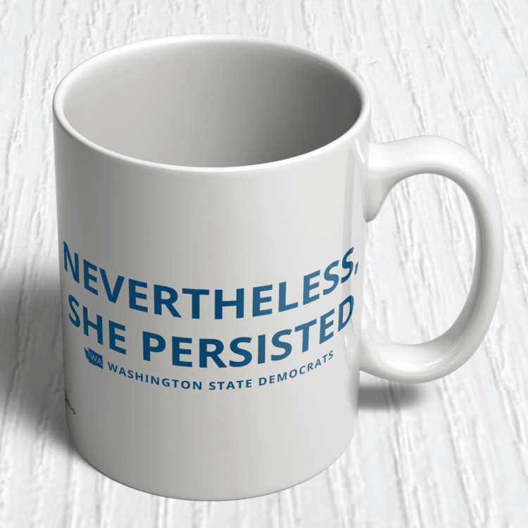 """Nevertheless, She Persisted"" logo graphic   (11oz. Coffee Mug)"