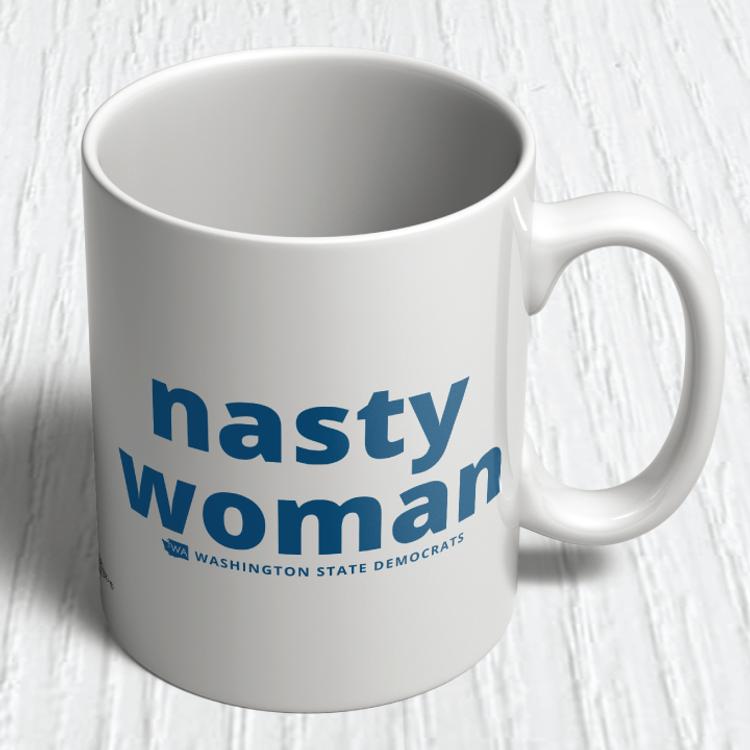"""Nasty Woman"" logo graphic (11oz. Coffee Mug)"