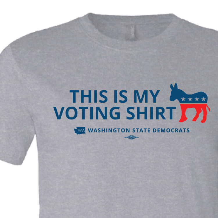 """This is my Voting Shirt"" logo graphic (Athletic Heather Tee)"