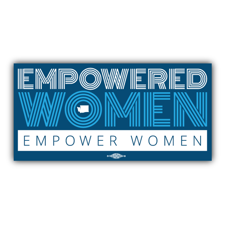 "Empowered Women Empower Women (9"" x 4"" Vinyl Sticker)"