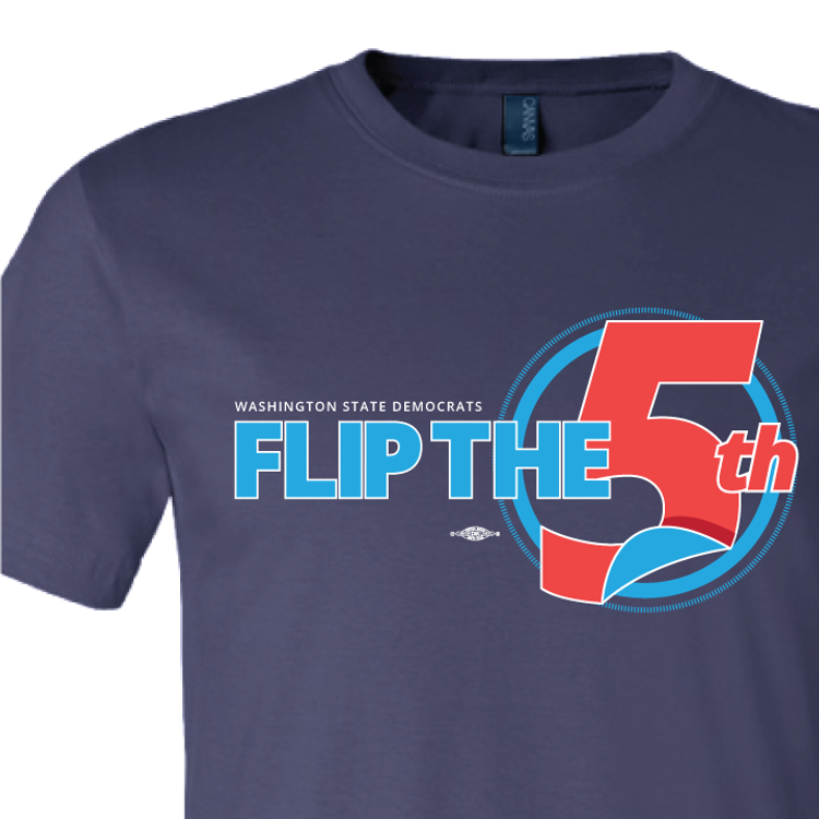 Flip The 5th (Navy Tee)