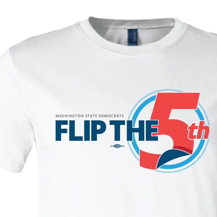 Flip The 5th (White Tee)
