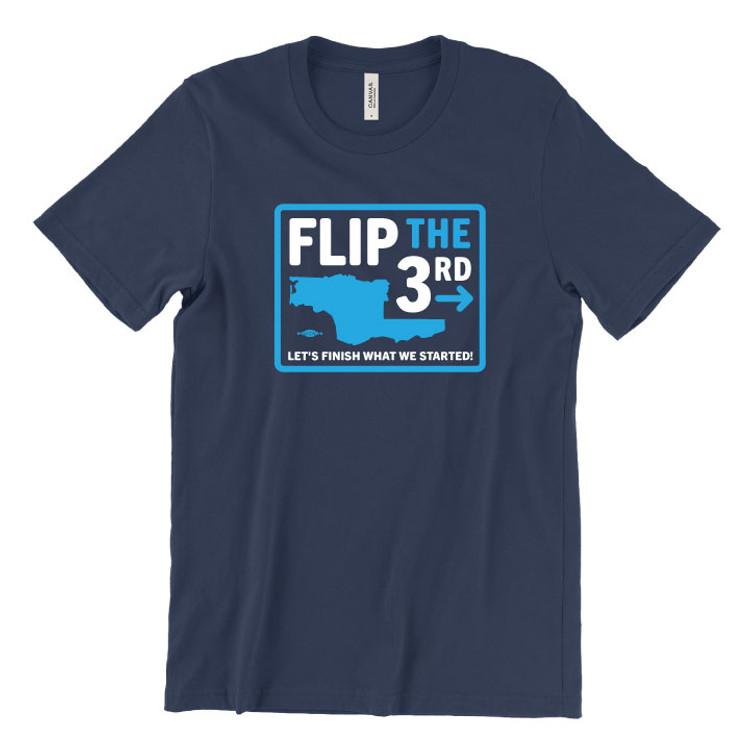 Flip The 3rd (Unisex Navy Tee)