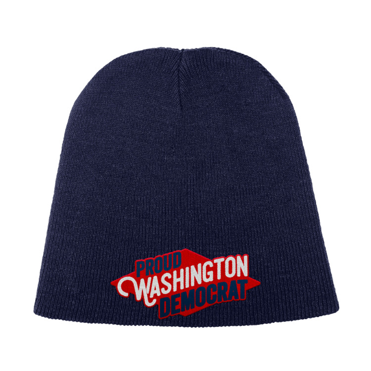 Proud Washington Democrat (Navy Beanie)