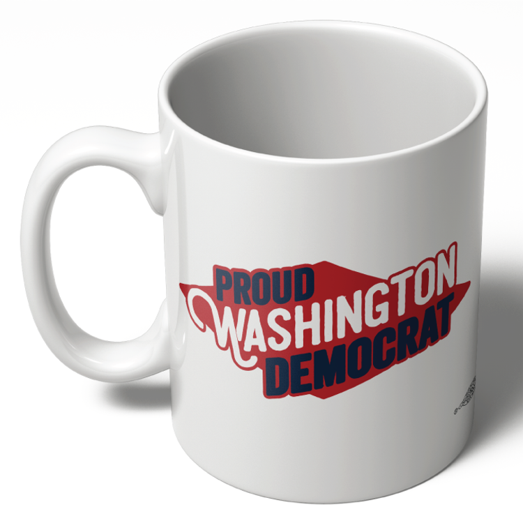 Proud Washington Democrat (11oz Ceramic Mug)