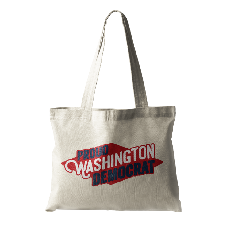 Proud Washington Democrat (Natural Canvas Tote)