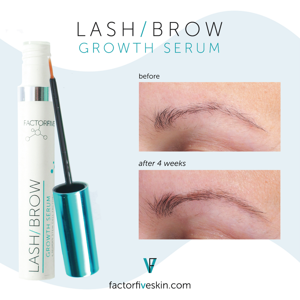 FACTORFIVE Skincare Lash & Brow Growth Serum Brow Before and After