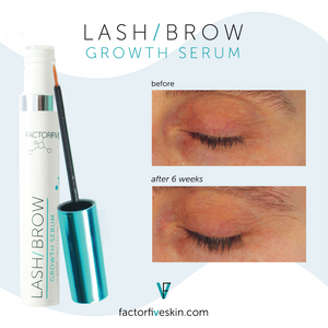 FACTORFIVE Skincare Lash & Brow Growth Serum Lash Before and After