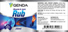 Qenda Muscle & Joint Rub - 20ml - Label