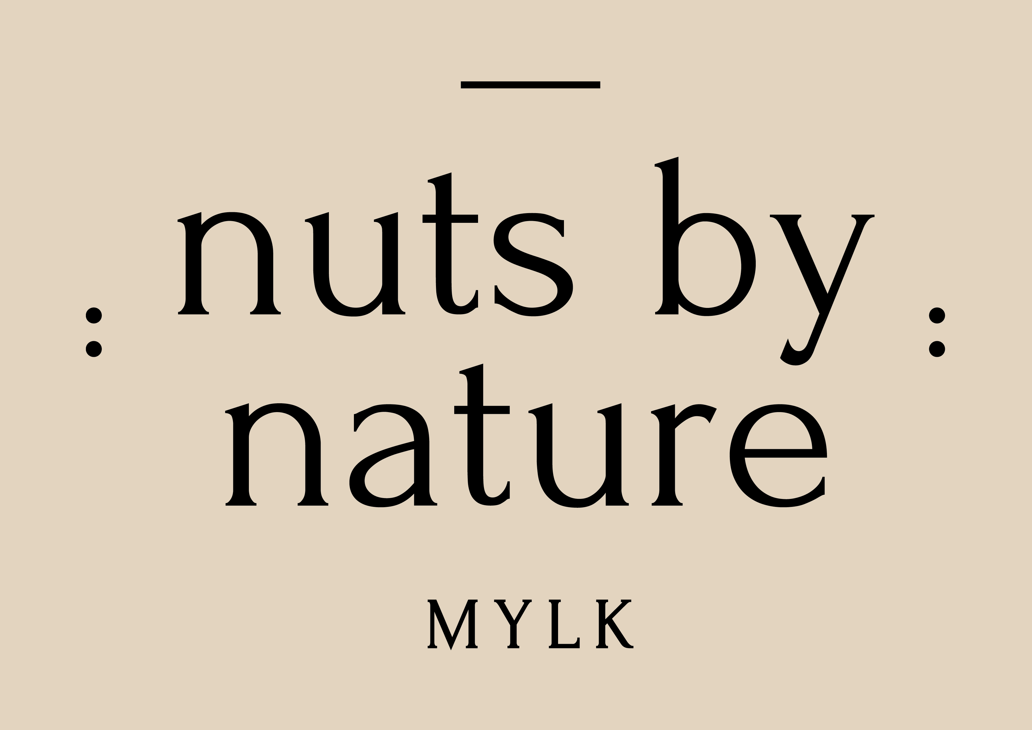 Nuts By Nature Mylk