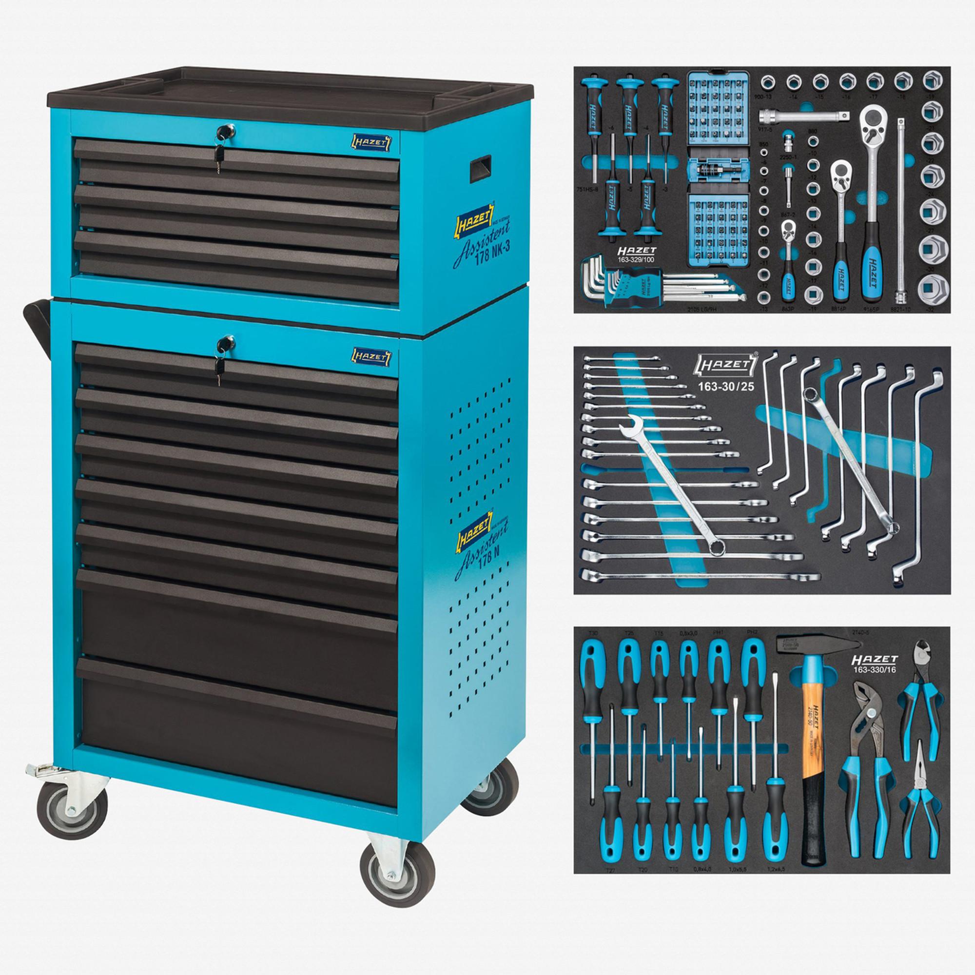 44c60961825efe Hazet 178N-10/141 Tool trolley Assistent 178 N-7 with 141 tools Tool ...