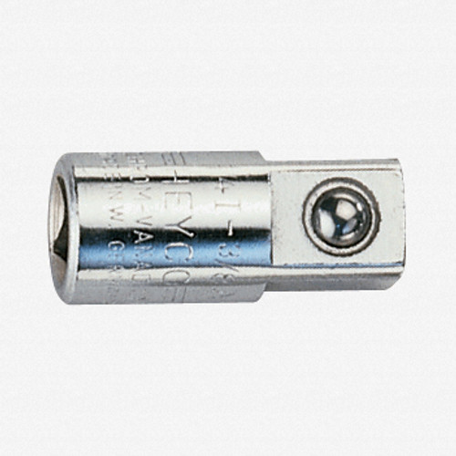 """Heyco 0251500 1/4"""" Square Drive Converter - 1/4"""" to 3/8"""" - KC Tool"""