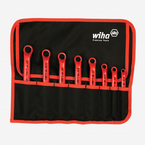 Wiha 21096 8 Piece Insulated Deep Offset Wrench SAE Pouch Set - KC Tool