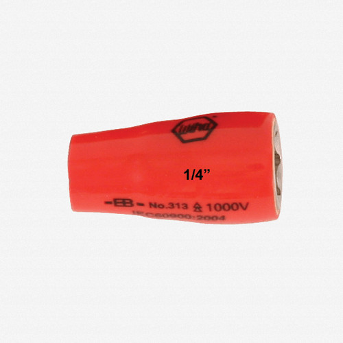 "Wiha 31334 13mm x 1/4"" Drive Insulated Socket - KC Tool"