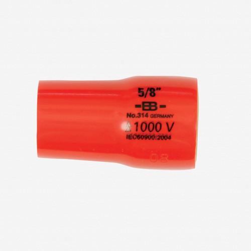 "Wiha 31435 5/8 x 3/8"" Drive Insulated Socket - KC Tool"