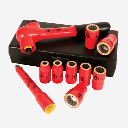 "Wiha 31493 10 Piece Insulated 3/8"" Drive SAE Socket Box Set - KC Tool"