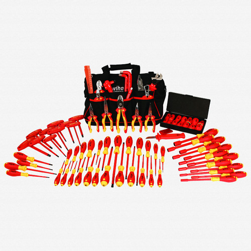 Wiha 32877 80 Piece Insulated Pliers, cutters and Screwdriver Tool Box