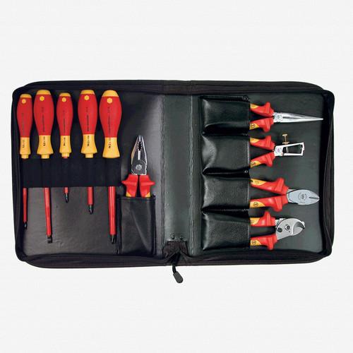 Wiha 32891 10 Piece Insulated Pliers/Cutters/Driver Zipper Case Set - KC Tool