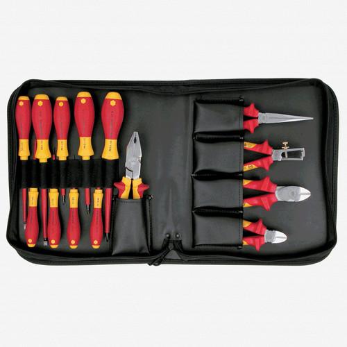 Wiha 32895 14 Piece Insulated Pliers/Cutters/Driver Zipper Case Set - KC Tool