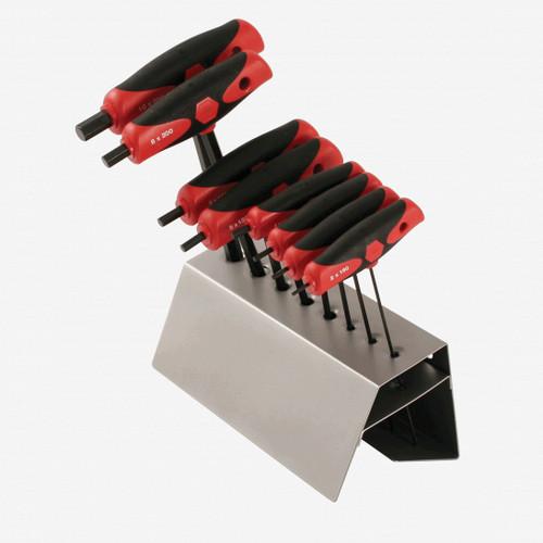Wiha 33489 8 Piece SoftGrip Metric T-handle Rack Set - KC Tool