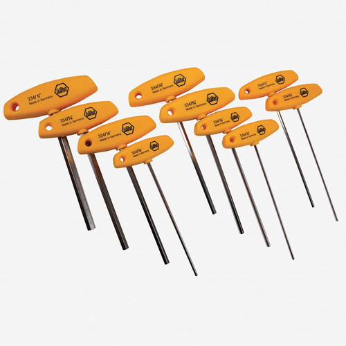 Wiha 33492 10 Piece Hex SAE T-handle Set - KC Tool
