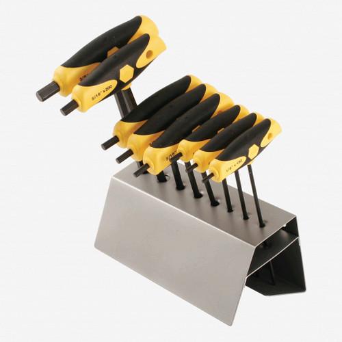 Wiha 33499 8 Piece SoftGrip Hex SAE T-handle Rack Set - KC Tool