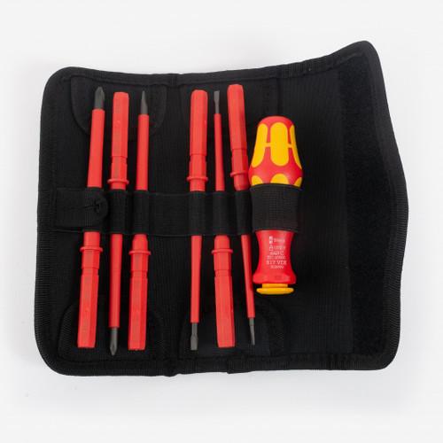 Wera 003470 Kraftform Kompakt VDE 60 i/7 Slotted/Phillips Insulated Screwdriver Set - KC Tool