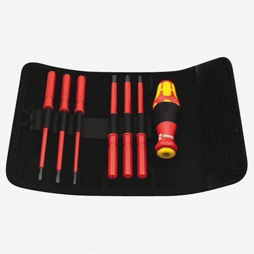 Wera 003473 Kraftform Kompakt VDE 60 i/68 i/7 Slotted/Phillips/Square Insulated Screwdriver Set - KC Tool