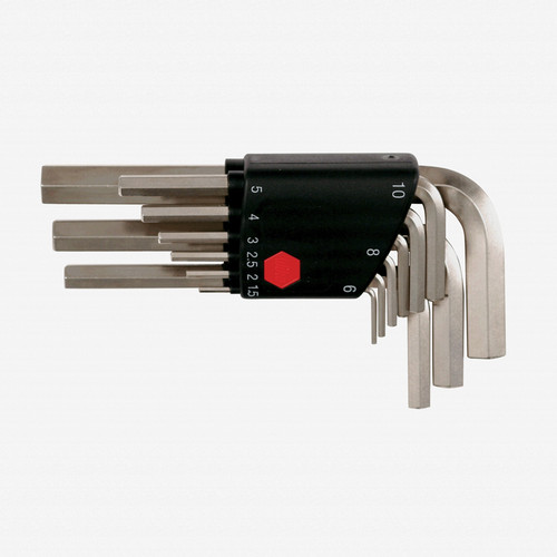 Wiha 35191 9 Piece Hex L-Key Short Arm Metric Set - KC Tool