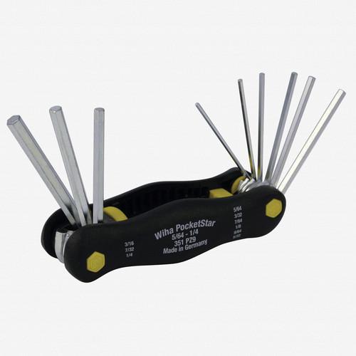 """Wiha 35197 7 Piece Hex PocketStar 5/64 - 1/4"""" - KC Tool"""