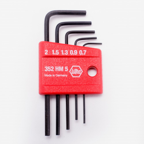 Wiha 35392 5 Piece Mini L-Key Short Hex Metric Set - KC Tool
