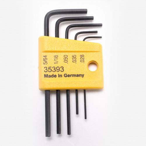Wiha 35393 5 Piece Mini L-Key Short Hex SAE Set - KC Tool
