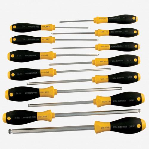 Wiha 36791 13 Piece MagicRing Ball End Hex SAE Driver Set - KC Tool