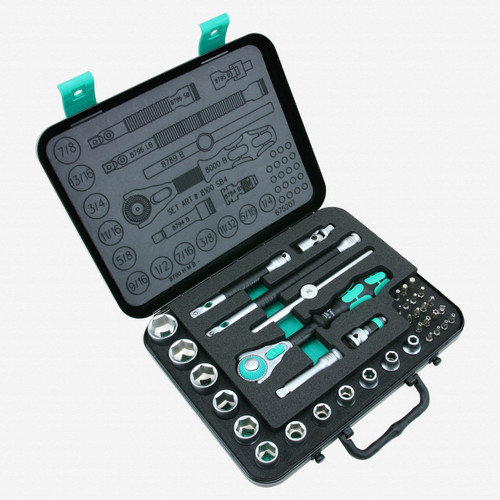 "Wera 003596 Zyklop Rachet Premium 3/8"" Drive SAE Set - KC Tool"