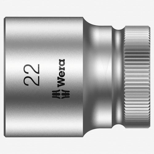 "Wera 003613 22 x 1/2"" Zyklop Socket - KC Tool"