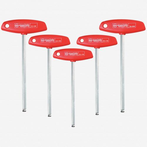 Wiha 54090 5 Piece MagicRing Ball End Hex Metric T-handle Set - KC Tool