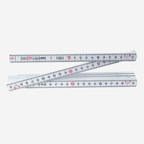 Wiha 61602 MaxiFlex 2 Meter Metric Folding Ruler, Outside Reading - KC Tool