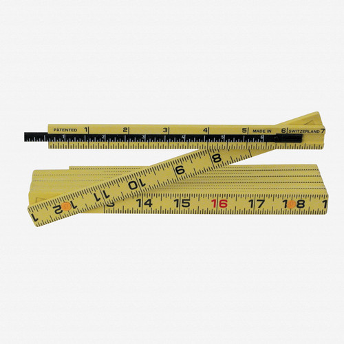 Wiha 61620 MaxiFlex Folding Ruler 6' Outside Reading w/ Depth Gauge - KC Tool