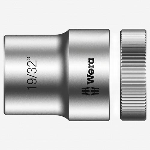 "Wera 003622 19/32"" x 1/2"" Zyklop Socket - KC Tool"