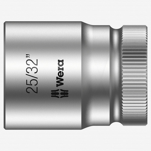 "Wera 003626 25/32"" x 1/2"" Zyklop Socket - KC Tool"