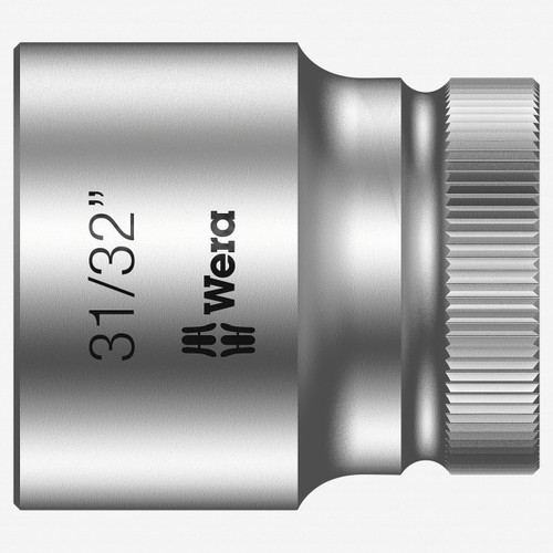 "Wera 003630 31/32"" x 1/2"" Zyklop Socket - KC Tool"