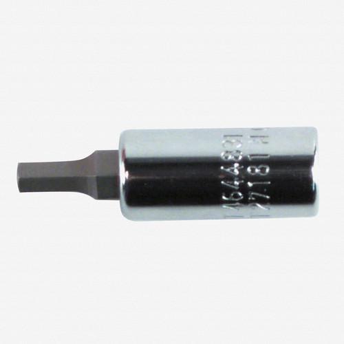 """Wiha 71313 3mm Hex Bit Socket 1/4"""" Square Drive - KC Tool"""