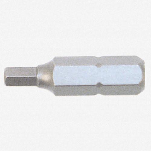 """Wiha 71330 3/32"""" x 25mm Hex Insert Bit - KC Tool"""