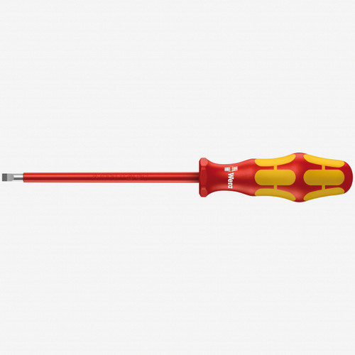 Wera 006115 4 x 100mm VDE Insulated Slotted Screwdriver - KC Tool