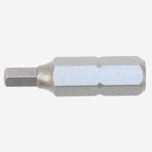 """Wiha 71960 1/4"""" x 25mm Security Hex Insert Bit - KC Tool"""