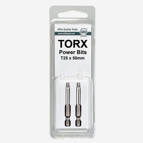 Wiha 74502 T7 x 50mm Torx Power Bit (2 Pack) - KC Tool
